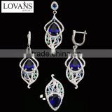 Heavy Kundan Jewelry Set Sapphire Glass Best Selling Products TZ-0173