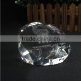 custom logo crystal paperweight, glass paperweight