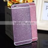 Full body stripe texture glitter sparkling bling bling sticker for iphone 6, factory price for iphone 6 sticker skin
