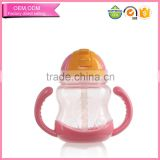 2016 popular pp plastic drinking bottle baby training sippy cup