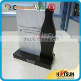 Custom black color wooden base acrylic table tent