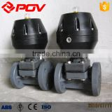 PVC body flange JIS10K pneumatic throttle valve with solenoid valve with positioner 4-20MA