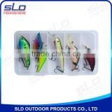 crank bait lure assorted fishing lure with plastic box
