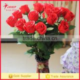 Artificial Flower PU Rose Bridal Wedding Party Bouquet Real Touch Craft Flower PU Latex Material