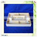 restaurant servicing decorating polished pine wooden craft plate tray