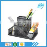 Modern Fancy Black Metal Mesh Office Desk Organizer/Stationery Holder