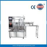 Automatic stand-up pouch liquid filling and capping machine, spout pouch filling machine