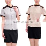 Custom fashion short sleeve hotel receptionist uniforms