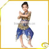 2014 Top Girls Paillette belly dance costumes