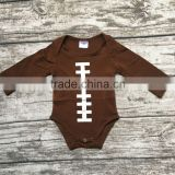 free shipping baby boy football season clothing infant toddler boys romper children football romper toddler boys outfits