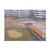 WPC Outdoor Furniture , Waterproof Pavilion Bridge and Green Corridor for Landscape