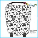 4-in-1 Stretchy Baby Car Seat Canopy Nursing Cover Shopping Cart Cover