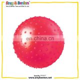 "7 "" PVC bouncy knobby ball light weight easy to grip best gifts for children birthday party"