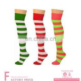 Tight fun dress long striped socks striped crew socks