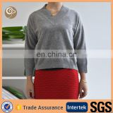 V neck wholesale women cashmere sweater on sale