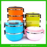 3 Layers stackable stainless steel lunch box