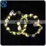 LED lighting Floral Crown Rose Flower for party