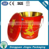 Christmas promotional wholesale china metal ice tin bucket with handle