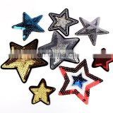 Fashion STAR Patch Sequined Kids Clothes Embroidered Iron On Patches for Clothing