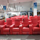 home theater sofa,red leather vip cinema seating