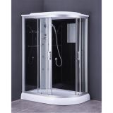 complete shower cabin/sliding door/oval shape E1451