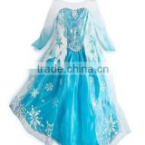 Instyles snow embroidered lace long sleeve dress made in china girls froze elsa dress