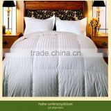 Feather duvet/stripe fabric quilt comforter/hotel bedding set