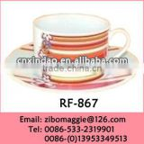 Valentine's Print Oversized Hot Sale Promotion Porcelain Bulk Tea Cup and Saucer Made in China
