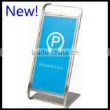 Parking sign New Arrival _ Reserve Parking Signs Stand_Portable Hotel Silver Blue Parking Signs