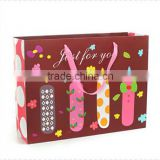 lovely candle pattern boutique paper shopping bag