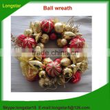 Colorful ball wreath