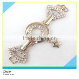 Bling Bling Rhinestone Zinc Alloy Chian New Fashion Design Crystal Rhinestone Belt Chain 5.5x11.5cm