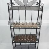 Floor stand mosaic antique rack shelves bookcase shelves display
