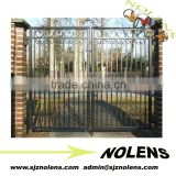 outdoor garden arch wrought iron gate for sale /wrought iron gates /wrought iron double doors /metal iron gate