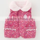 Japanese wholesale products high quality cute flower pattern baby winter vest toddler clothing kids wear infant clothes