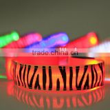 Flashing colorful changing LED bracelet Light up Bracelet flashing Acrylic glowing bracelet toys party decoration supplies