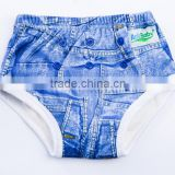 Waterproof Potty Training pants organic bamboo cloth training Pants for baby