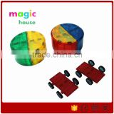 2016 Best Gift For Kids 100 Pieces Diy Educational Plastic Magnetic Connecting Building Blocks