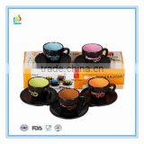 Black Style Espresso Coffee Cup and Saucer set wholesale