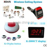 Wireless Calling Bell System Fashion Popularly Design Table Buzzer For Restaurant Pager CE Certification 433.92MHZ