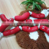wholesale dog supplies-3 shapes of vinyl sausage with rope
