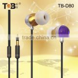 2015 Novelty products for sell high-performance shinning fashion metal novelty earphones and headphone