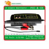 7 Stage 1/2/4A 24v battery charger for lead acid battery                                                                                                         Supplier's Choice