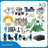 PPR/PE/PEX/PVC gas pipes and fittings/Male female brass compression fittings/Brass Valves/Pipe tools