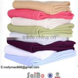 eco friendly plain dyed thin Cotton blanket