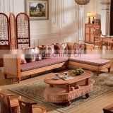 2015 High Quality Indoor Wooden Cane Back Lounge Sofa with Cushion Cane Furniture for salon                                                                         Quality Choice