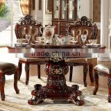 Luxury European French Style Wooden Round Classic Dining Table                                                                         Quality Choice