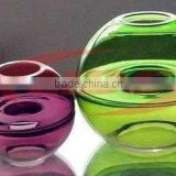 Colored Hand Blown Glass Candle Holders Lanterns