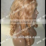 world beauty wigs popular TOP quality 100% virgin indian remy hair lace front wig from factory directly