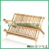 Fuboo Bamboo 2-tier dish drainer foldable